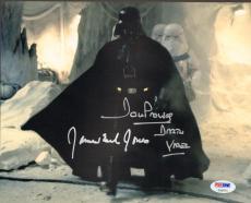 "JAMES EARL JONES & DAVE PROWSE Signed ""DARTH VADER"" 8x10 Photo PSA/DNA #T32571"