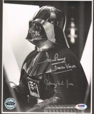 """JAMES EARL JONES & DAVE PROWSE Signed """"DARTH VADER"""" 8x10 Photo PSA/DNA #V79474"""