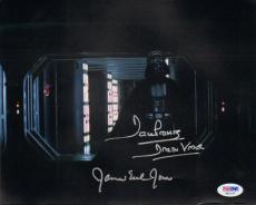 "JAMES EARL JONES & DAVE PROWSE Signed ""DARTH VADER"" 8x10 Photo PSA/DNA #X81157"