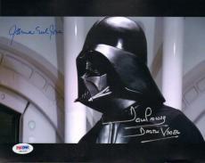 "JAMES EARL JONES & DAVE PROWSE Signed ""DARTH VADER"" 8x10 Photo PSA/DNA #X81630"