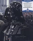 James Earl Jones & Dave Prowse Signed Darth Vader Star Wars Photo Beckett Bas