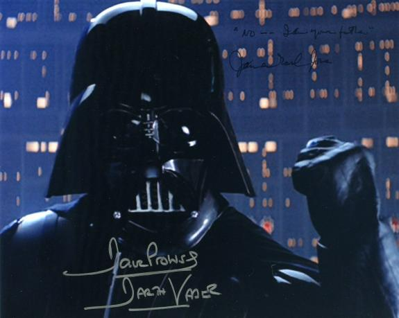 James Earl Jones & Dave Prowse Signed Darth Vader Star Wars Photo Bas Beckett