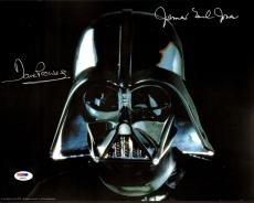 """JAMES EARL JONES & DAVE PROWSE Signed """"STAR WARS"""" 11x14 Photo PSA/DNA #AB96075"""
