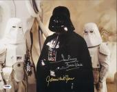 """JAMES EARL JONES & DAVE PROWSE Signed """"STAR WARS"""" 11x14 Photo PSA/DNA #T53389"""