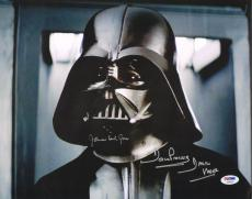 """JAMES EARL JONES & DAVE PROWSE Signed """"STAR WARS"""" 11x14 Photo PSA/DNA #Y60523"""