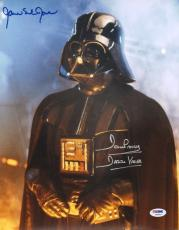 """JAMES EARL JONES & DAVE PROWSE Signed """"STAR WARS"""" 11x14 Photo PSA/DNA #Y60527"""
