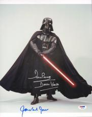 """JAMES EARL JONES & DAVE PROWSE Signed """"STAR WARS"""" 11x14 Photo PSA/DNA #Y60528"""