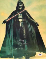 """JAMES EARL JONES & DAVE PROWSE Signed """"STAR WARS"""" 11x14 Photo PSA/DNA #Y60530"""