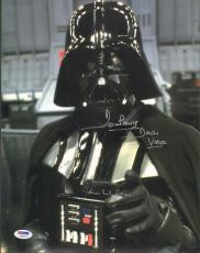 """JAMES EARL JONES & DAVE PROWSE Signed """"STAR WARS"""" 11x14 Photo PSA/DNA #Y60533"""