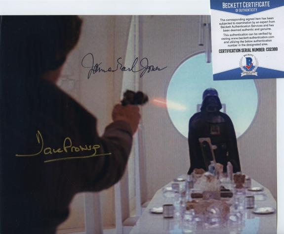 James Earl Jones & Dave Prowse Signed Star Wars Darth Vader Photo Beckett Bas