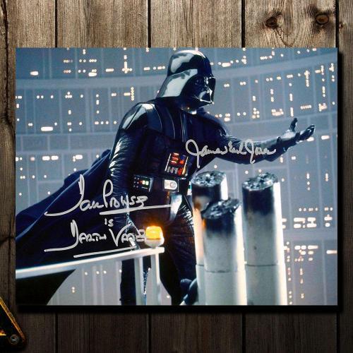 James Earl Jones & David Prowse DARTH VADAR Empire Strikes Back Signed 8x10 Photo