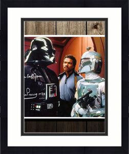 James Earl Jones & David Prowse DARTH VADAR Star Wars Boba Fett Signed 11x14 Photo