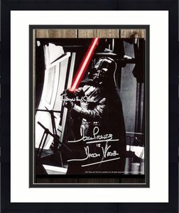 James Earl Jones & David Prowse DARTH VADAR Star Wars Light Saber Signed 8x10 Photo