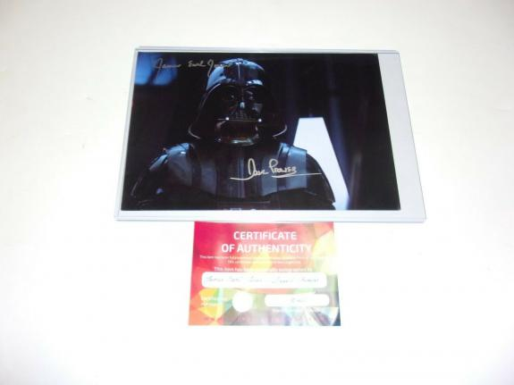 James Earl Jones David Prowse Darth Vader Actors Star Wars W/coa Signed Photo