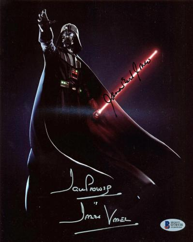 James Earl Jones & David Prowse Darth Vader Signed 8x10 Photo BAS #D78538