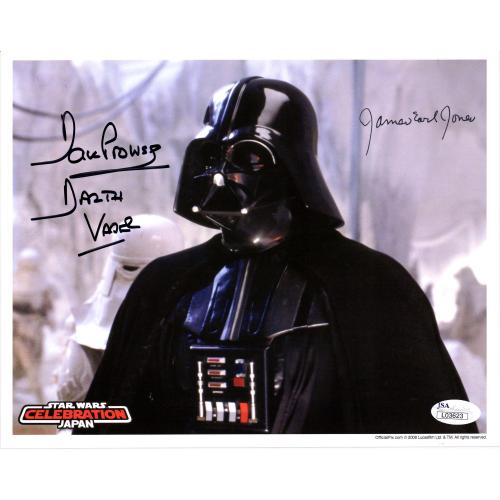 "James Earl Jones & David Prowse Star Wars Autographed 8"" x 10"" Photograph with ""Darth Vader"" Inscription - JSA"