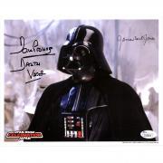 "James Earl Jones & David Prowse Star Wars Autographed 8"" x 10"" Photograph with ""Darth Vader"" Inscription - JSA"