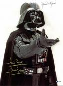 James Earl Jones & David Prowse Star Wars Signed 12x16 Photo BAS #C19486