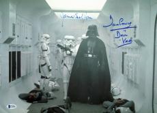 James Earl Jones & David Prowse Star Wars Signed 12x16 Photo BAS #C19489