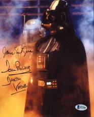 James Earl Jones & David Prowse Star Wars Signed 8X10 Photo BAS B73186