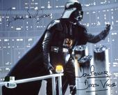 James Earl Jones & David Prowse Star Wars Signed 8x10 Photo BAS B73187