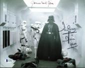 James Earl Jones & David Prowse Star Wars Signed 8X10 Photo BAS C19450