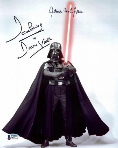James Earl Jones & David Prowse Star Wars Signed 8x10 Photo BAS D78534