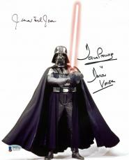 James Earl Jones & David Prowse Star Wars Signed 8x10 Photo BAS D78536