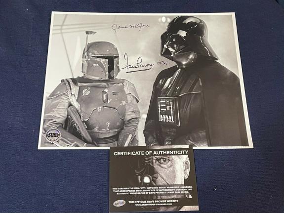 James Earl Jones & David Prowse Star Wars Vader Signed Autograph 11x14 Photo COA