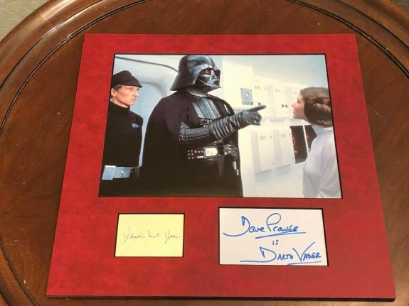 James Earl Jones & David Prowse Star Wars Vader Signed Autograph Photo Display