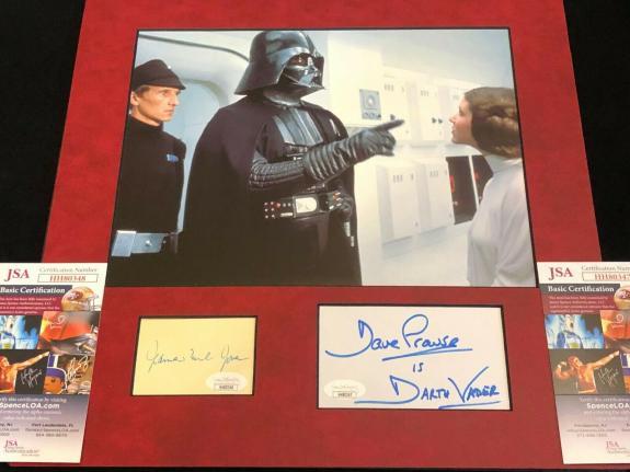 James Earl Jones David Prowse Star Wars Vader Signed Autograph Photo Display JSA