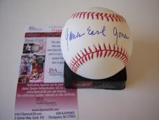 James Earl Jones Field Of Dreams,darth Vader Jsa/coa Signed Baseball