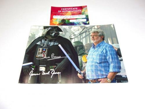 James Earl Jones George Lucas David Prowse Star Wars W/coa Signed Photo