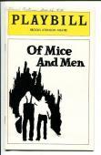 James Earl Jones Kevin Conway Pamela Blair Pat Corley Of Mice and Men Playbill