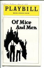 James Earl Jones Kevin Conway Pamela Blair Pat Corley Of Mice and Men Playbill