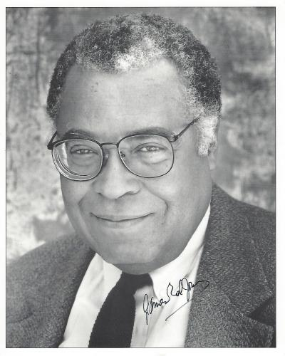 """JAMES EARL JONES - Movies Include """"STAR WARS"""", """"THE CREATION"""", and """"FIELD of DREAMS"""" Signed 8x10 B/W Photo"""