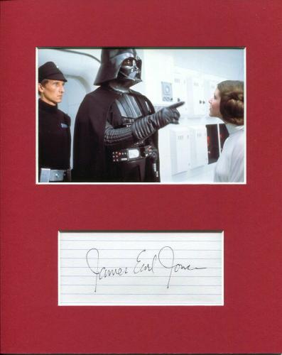 James Earl Jones Rare Star Wars Darth Vader Voice Signed Autograph Photo Display