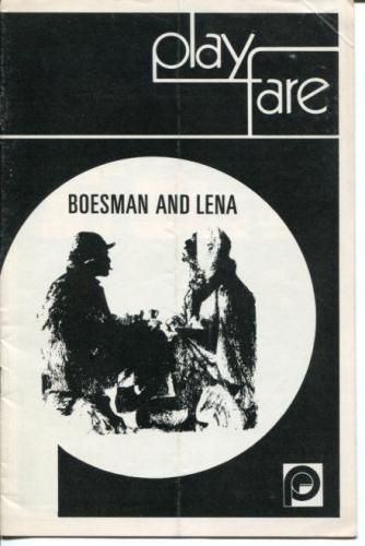 James Earl Jones Ruby Dee Zakes Moake Athol Fugard Boesman And Lena Playbill
