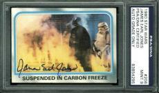 James Earl Jones Signed 1980 Star Wars Card #206 Auto Graded Mint 9! PSA Slabbed
