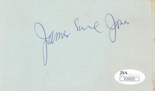 JAMES EARL JONES Signed  3X5 Index Card a 10 autograph JSA V26695