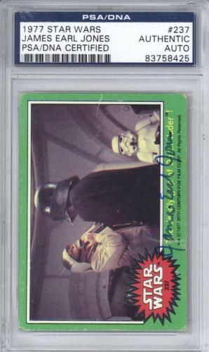 James Earl Jones Signed Auto 1977 Star Wars #237 Card PSA/DNA