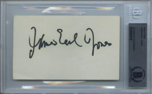 James Earl Jones Signed Autographed Index Card Star Wars Darth Vader Beckett Bas