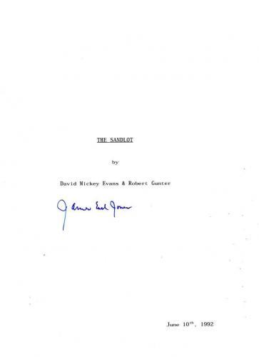 James Earl Jones Signed Full Sandlot Script Authentic Autograph Coa