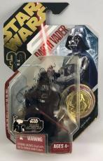 James Earl Jones Signed Star Wars Darth Vader 30th Coin Figure Toy PSA/DNA COA