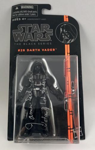 James Earl Jones Signed Star Wars Darth Vader Black 3'' Figure Toy PSA/DNA COA