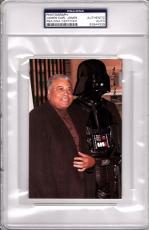 """JAMES EARL JONES Signed STAR WARS """"Darth Vader"""" Photo PSA/DNA SLABBED #83844309"""