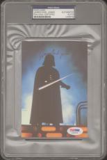 JAMES EARL JONES Signed STAR WARS Darth Vader Postcard PSA/DNA SLABBED #U49978