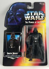 James Earl Jones Signed Star Wars Darth Vader Red POTF Figure Toy PSA/DNA COA