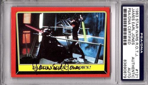 """JAMES EARL JONES Signed STAR WARS Darth Vader """"ROTJ"""" 1983 Card Beckett BAS SLAB"""
