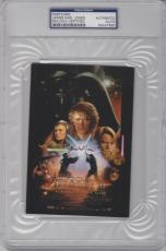 JAMES EARL JONES Signed STAR WARS Episode 3 Darth Vader Postcard PSA/DNA SLABBED